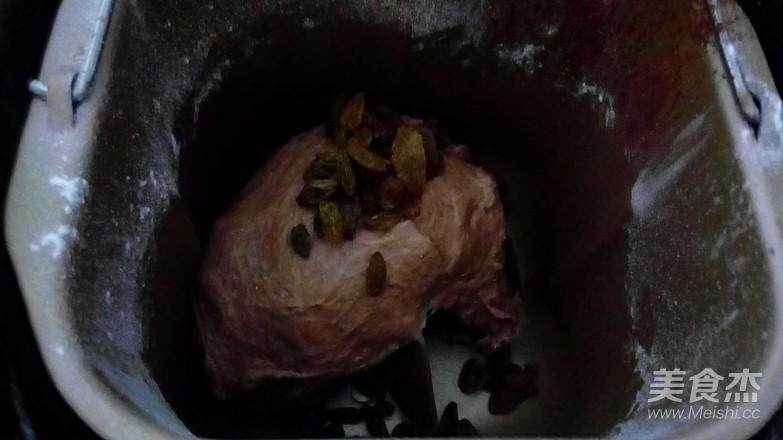 面包机可可葡萄土司的简单做法