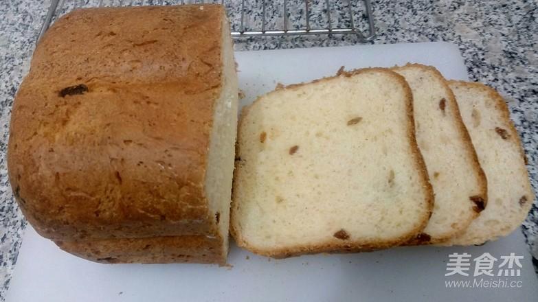 葡萄干吐司面包的步骤