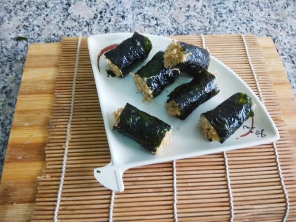 海苔肉松饭卷怎么炒