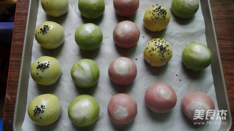 抹茶&红曲&蛋黄酥的制作方法