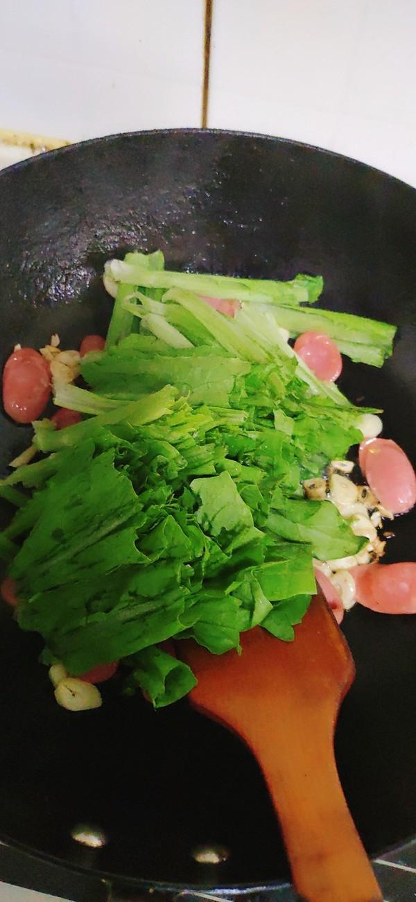 热狗油麦菜的简单做法
