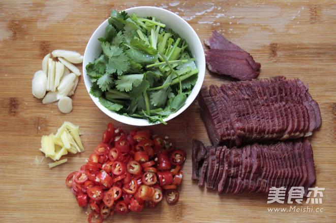 小炒腊牛肉的家常做法