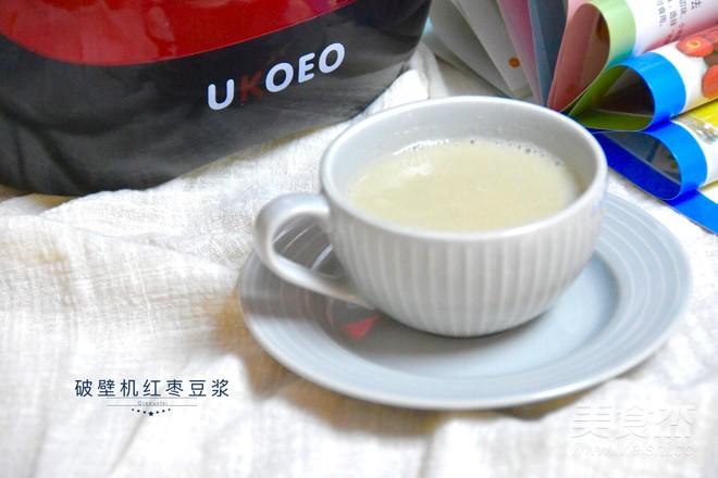 红枣豆浆成品图