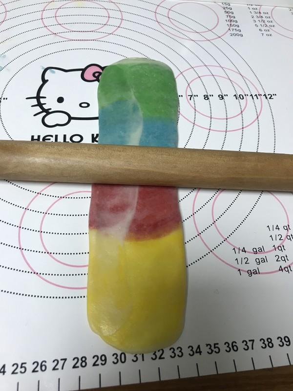 螺旋彩虹蛋黄酥的制作方法