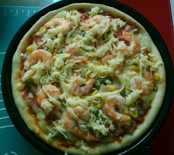 鲜虾火腿披萨怎样炒