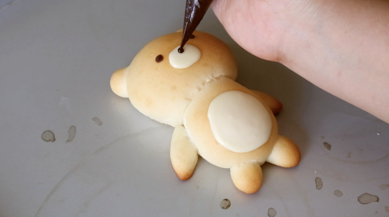 小熊面包的制作方法