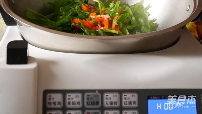 清炒菠菜的做法图解