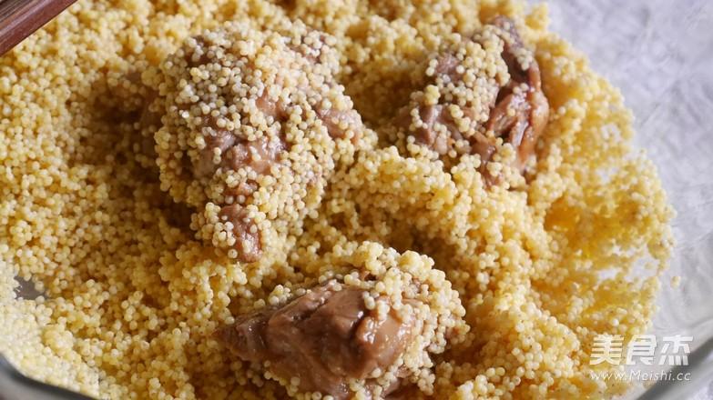 小米香菇蒸排骨的简单做法