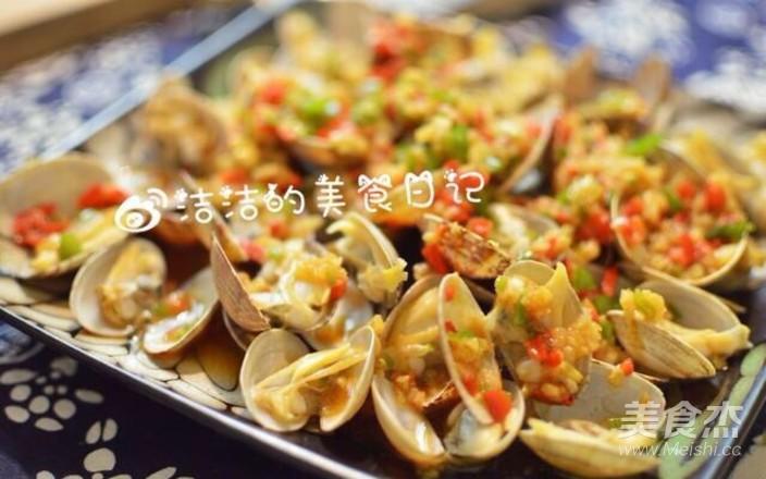 蒜蓉烤花蛤成品图