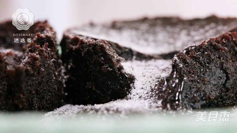 巧克力熔岩蛋糕-迷迭香成品图