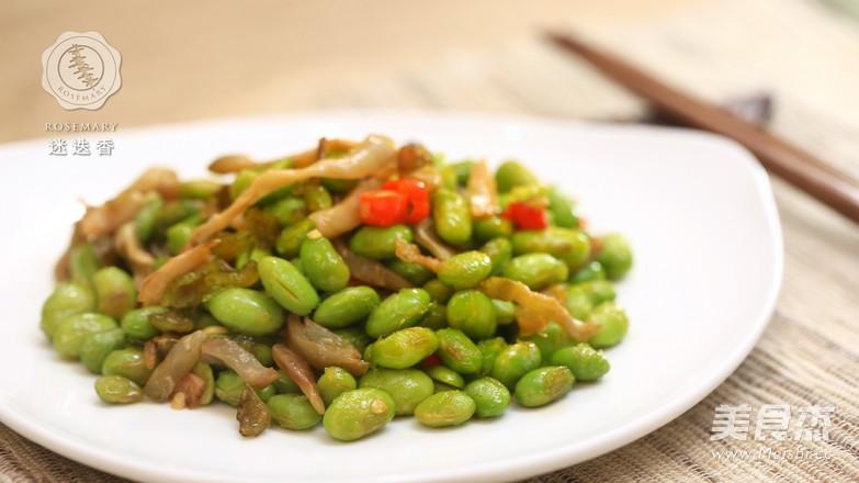 香辣毛豆炒肉丝-迷迭香怎么做