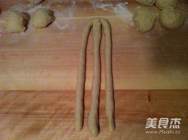 豆渣辫子面包怎么做