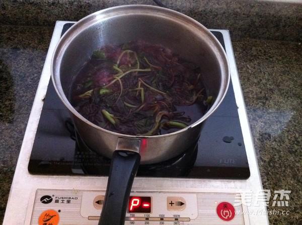 苋菜汁糯米粽子的做法图解