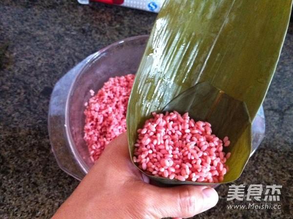苋菜汁糯米粽子怎么做