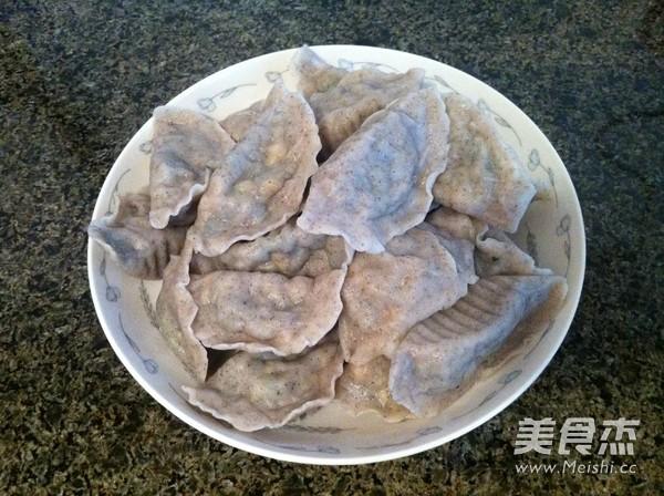 黑豆面小白菜素饺子怎样做