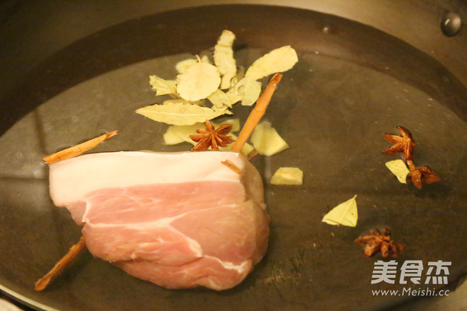 干豇豆扣肉的步骤