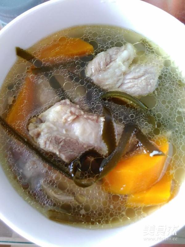 海带排骨汤成品图