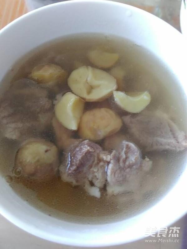 粟子煲猪肉汤成品图
