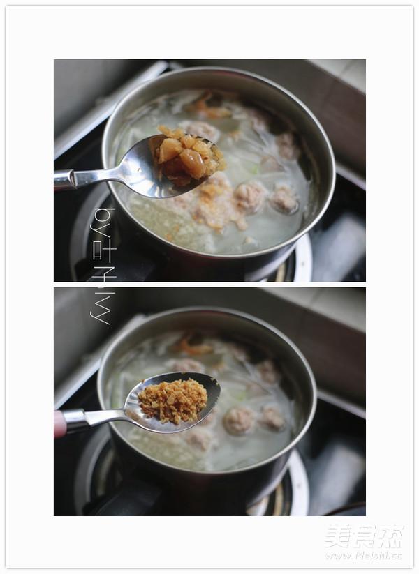 瑶柱肉丸冬瓜汤的简单做法