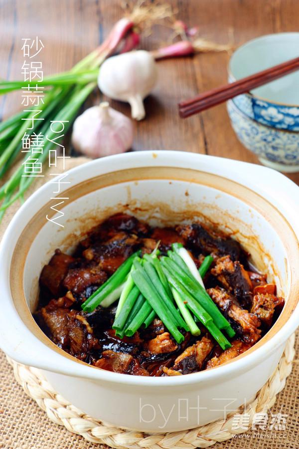 砂锅蒜子鳝鱼成品图