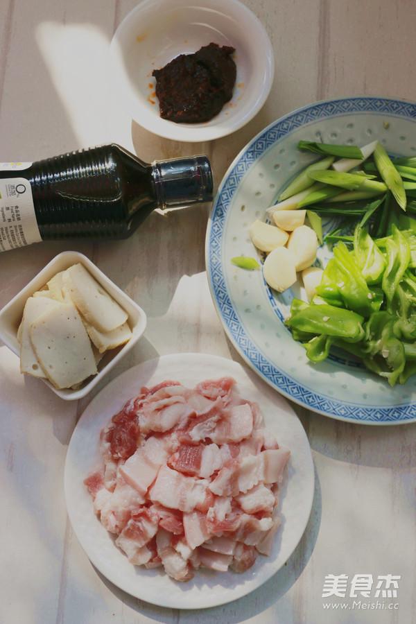 豆瓣酱皱皮椒炒花肉的做法图解