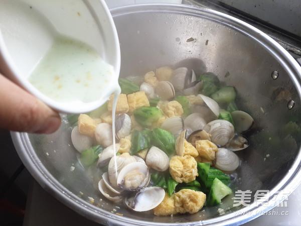 白贝烩丝瓜豆泡怎么做
