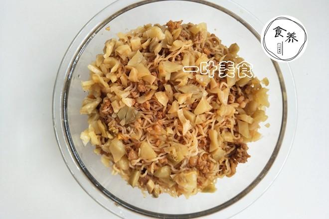 榨菜肉末蒸米粉怎么吃