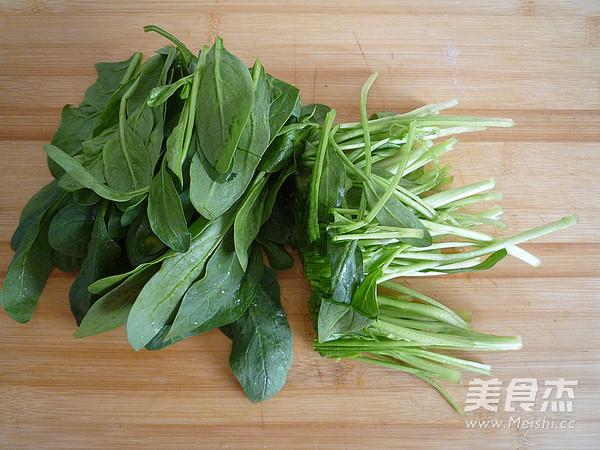 菠菜木耳拌核桃仁的做法图解