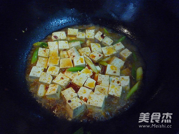 蒜苗烧豆腐怎么煸