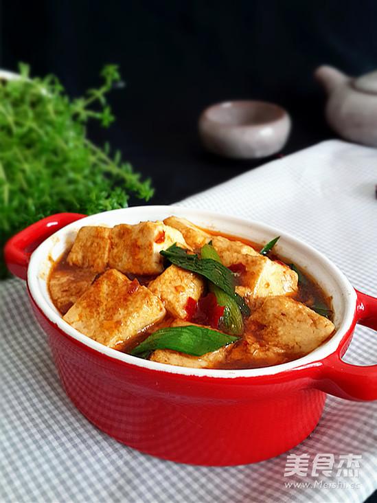 蒜苗烧豆腐成品图