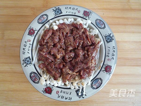 金针菇蒸牛肉怎么煮