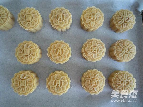 广式金丝肉松月饼的制作