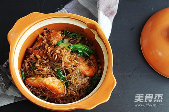 鲜虾粉丝煲的制作