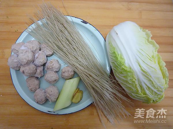 白菜丸子炖粉丝的做法大全