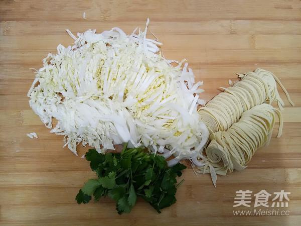 白菜心拌豆腐丝的做法图解