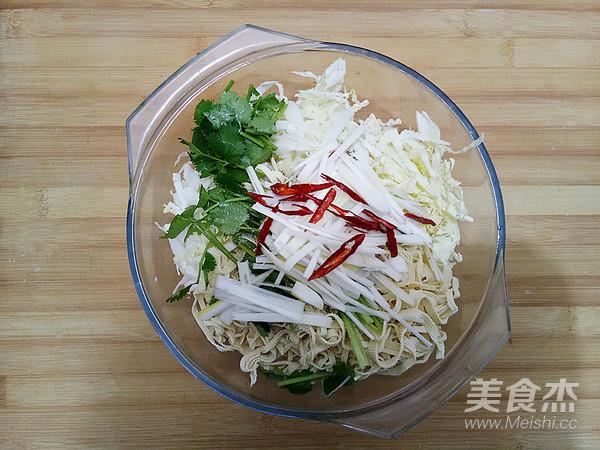 白菜心拌豆腐丝怎么炒