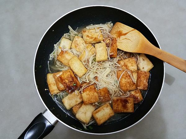金针菇烧豆腐怎么炖