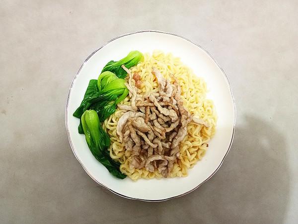 肉丝青菜干拌面#中卓炸酱面#怎么煮
