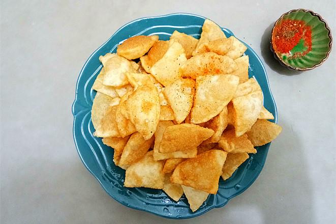 饺子皮椒盐酥怎么做