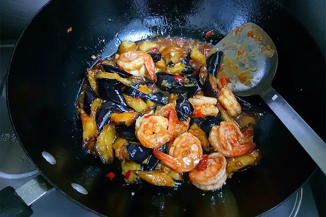 鱼香虾球茄子的制作