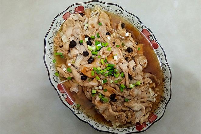金针菇蒸肉片怎么炒