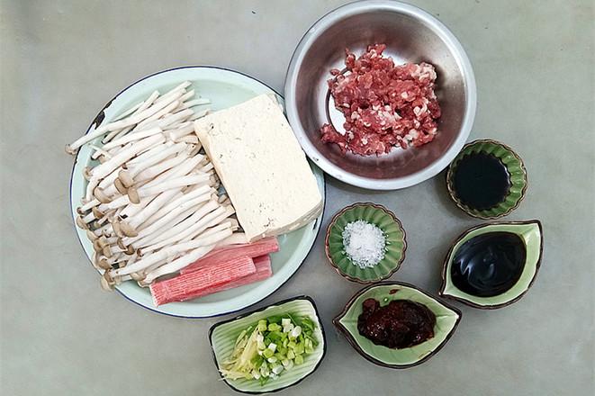 蟹味菇烧豆腐的做法大全