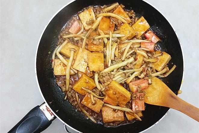 蟹味菇烧豆腐怎样煸