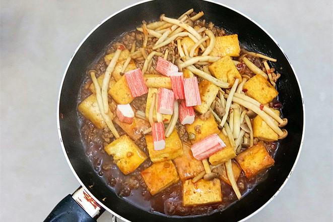 蟹味菇烧豆腐怎么炖