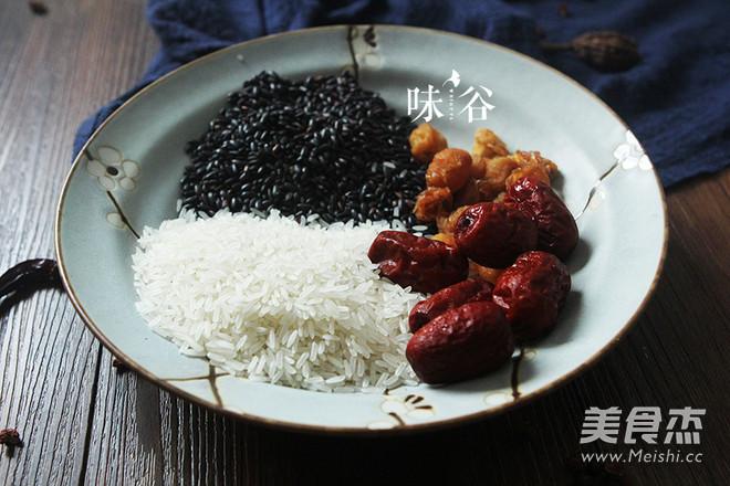 红枣桂圆黑米粥的做法大全