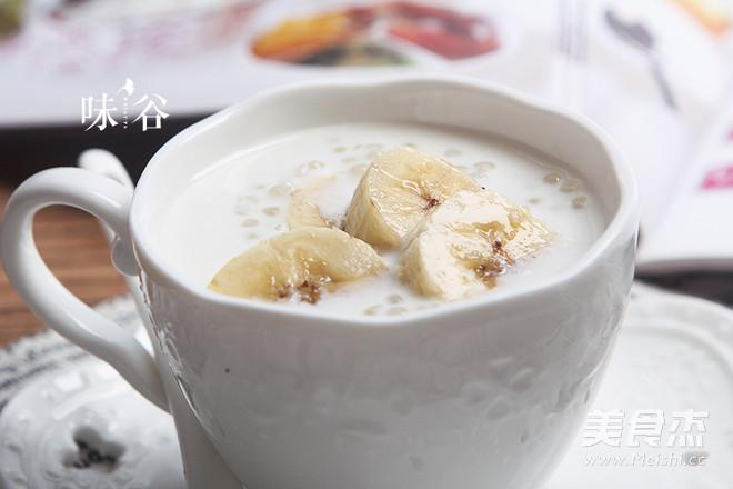 香蕉牛奶西米露怎么煮