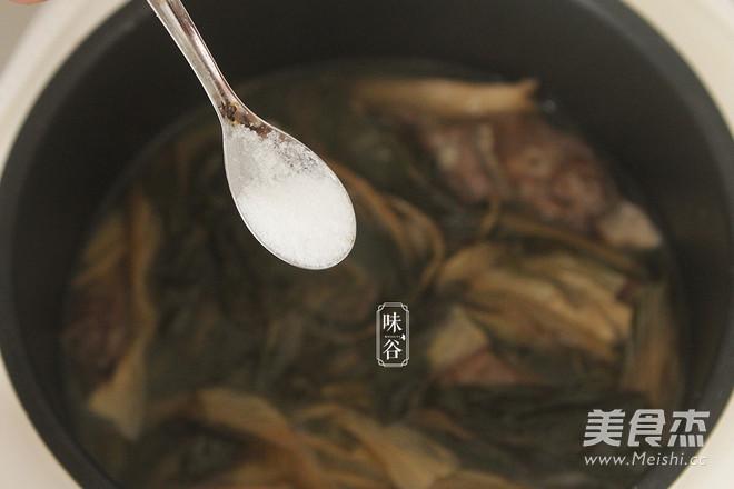菜干猪肺汤的步骤