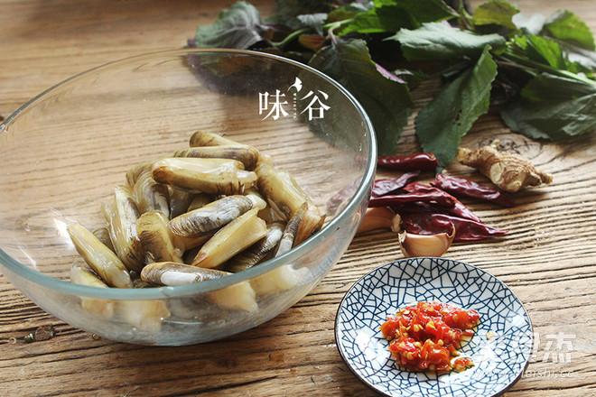 紫苏炒蛏子的做法大全