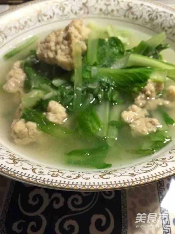 小白菜丸子汤的简单做法