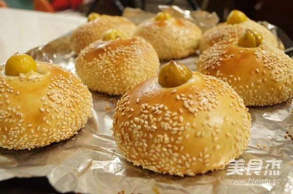 芝麻栗子小面包的做法大全